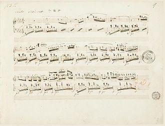 Nocturnes, Op. 27 (Chopin) - Manuscript to Nocturne Op. 27, No. 2
