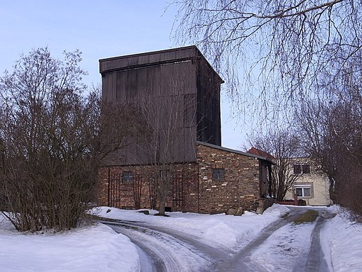Oppin, Windmühle (Ortsausgang Richtung Halle)