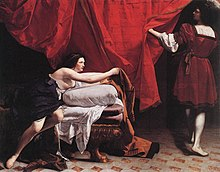Joseph And Potiphars Wife Leaving By Orazio Gentileschi