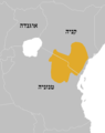Oryx callotis distribution map.png