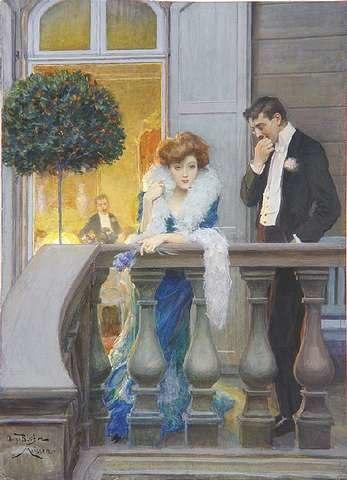 Oscar Bluhm Auf dem Balkon