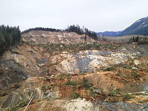 2014 Oso mudslide - Top view of slide area