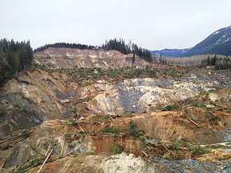 2014 Oso mudslide - Top view of slide area