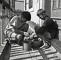 Otroka pripravljata kosilo, medtem ko so starši na polju, Drašiči 1965.jpg