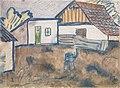 Otto Mueller - Häuser mit Ofen und Schwein - ca1928.jpeg