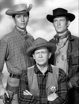 Outlaws (1960 TV series) - Jock Gaynor, Barton MacLane, and Don Collier in 1960.