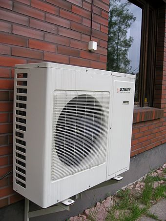 Outside unit of an air-source heat pump Outunit of heat pump.jpg