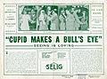 Oversized release flier for CUPID MAKES A BULL'S EYE, 1913.jpg