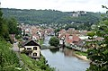 Overview of the village Ornans along the Loueriver in the French Jura - panoramio.jpg