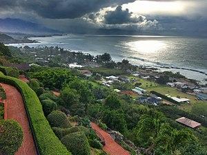 Pūpūkea, Hawaii - View of Pūpūkea towards the ocean