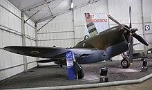 Avion de chasse dans un musée