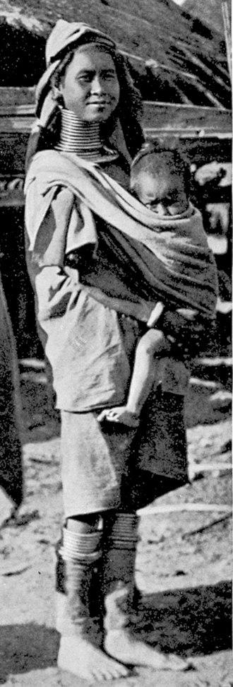 Kayan people (Myanmar) - Woman and child, 1905.