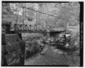 PERSPECTIVE VIEW LOOKING SOUTHEAST - Oak Knoll Park Bridge, Oak Knoll Park, Massillon, Stark County, OH HAER OHIO,76-MASS,1-2.tif