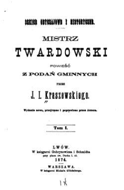 Mistrz Twardowski Kraszewskicałość Wikiźródła Wolna