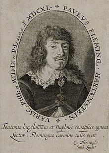 Paul Fleming (Frontispiz zu Teütsche Poemata, 1642) (Quelle: Wikimedia)