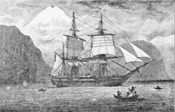 Psm v57 d097 hms beagle in the straits of magellan
