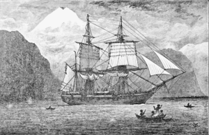 The Voyage of the Beagle - Image: PSM V57 D097 Hms beagle in the straits of magellan