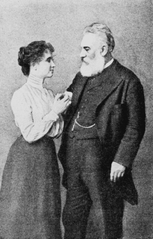 English: Helen Keller and Alexander Graham Bell