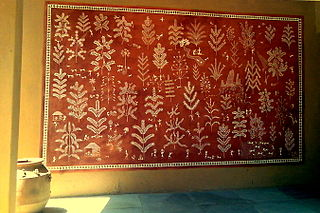 Warli painting Art created by tribal people from Maharashtra, India