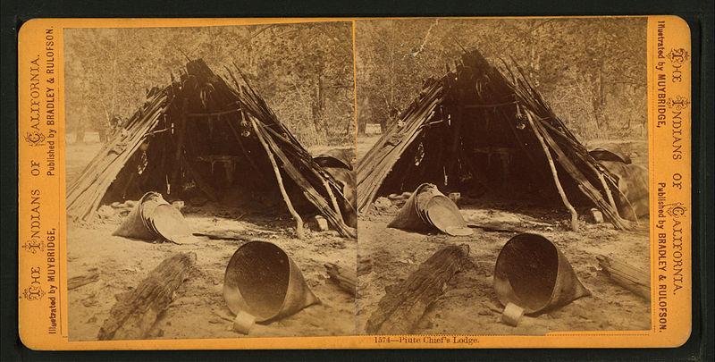 File:Paiute Chief's Lodge, by Muybridge, Eadweard, 1830-1904.jpg