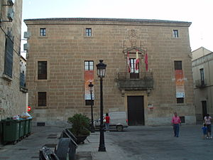 Duke of Moctezuma de Tultengo - The Palace of Moctezuma, located at Plaza Conde, 2, 37500 Ciudad Rodrigo, Salamanca, Castile and León, Spain, one of many palaces erected by the descendants of Moctezuma II.