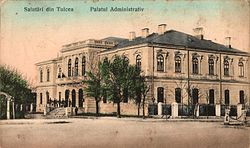 The Tulcea prefecture building from the interwar period, now the Tulcea Art Museum.
