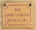 Panneau rue Anne et Pierre de Beaujeu (Villefranche-sur-Saône).jpg