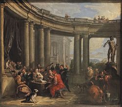 Giovanni Paolo Panini: Concert in a Circular Gallery