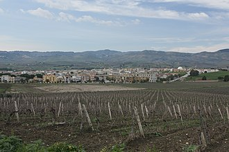 Gibellina - Image: Panorama di Gibellina Nuova