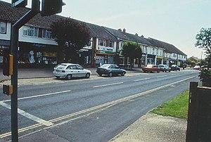 Ashley, New Forest - Image: Parade of shops, Ashley geograph.org.uk 99418