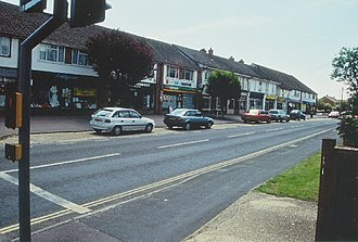 Ashley, New Forest - Image: Parade of shops, Ashley geograph.org.uk 99418
