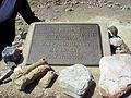 Paranthropus boisei, Gedenkplatte.JPG