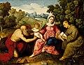 Paris Bordone - Madonna con Bambino, San Girolamo e San Francesco (LACMA).jpg