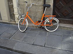 Bicicleta para transporte dobrável
