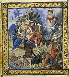 Miniature from the Paris Psalter, a striking testimony to the tenth-century Byzantine cultural revival.