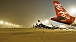 Parked Aircraft at the Bangalore International Airport (39661499881).jpg