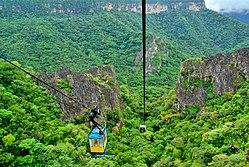 Ubajara possui um parque nacional e um passeio de teleférico por uma depressão de mais de 500 metros, que leva a uma grande gruta de rochas calcárias.