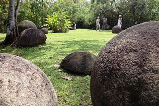 Stone spheres of Costa Rica Assortment of over three hundred precolumbian petrospheres in Costa Rica