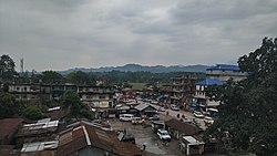 A view of Pasighat from Hotel Siang