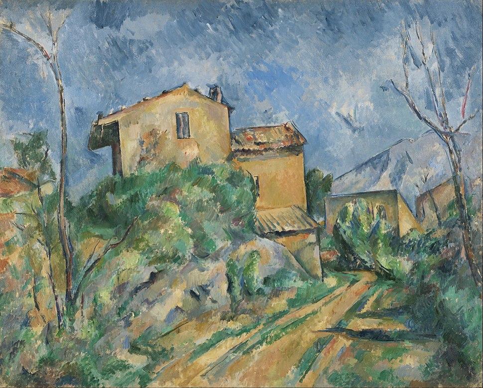 Paul C%C3%A9zanne - Maison Maria with a View of Ch%C3%A2teau Noir - Google Art Project