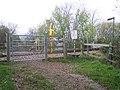 Pedestrian Railway Crossing, Brockhampton - geograph.org.uk - 76387.jpg