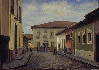 Rua Direita e Igreja de Santo Antonio, 1860