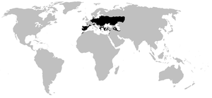 European spadefoot toad - Image: Pelobatidae range map