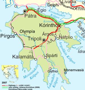 Peloponnes – Reiseführer auf Wikivoyage