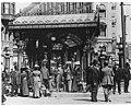 People under Pioneer Square pergola, Seattle, ca 1910 (MOHAI 3134).jpg