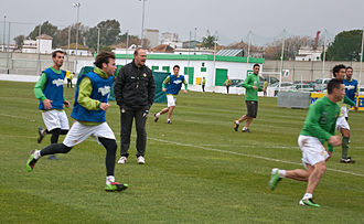 Pepe Mel - Mel training Betis in December 2010