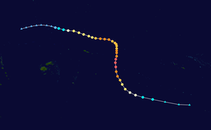 Cyclone Percy - Image: Percy 2005 track