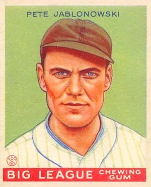 Pete Appleton - 1933 Goudey card