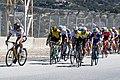 Peter Sagan looks across as Egon Bernal attacks on the Rahal Straight at Laguna Seca (42763031231).jpg