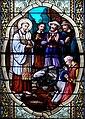 Pfarrkirche Lourdes Glasfenster Antonius, der Esel und die Hostie ( Detail ).jpg